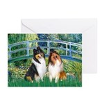 Bridge / Two Collies Greeting Cards (Pk of 10)