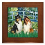 Bridge / Two Collies Framed Tile