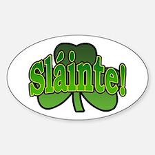 Slainte Shamrock Oval Bumper Stickers