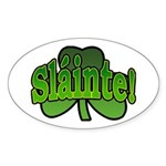 Slainte Shamrock Oval Sticker