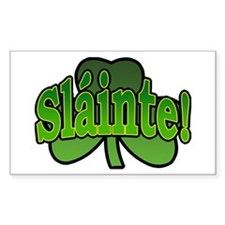 Slainte Shamrock Rectangle Decal