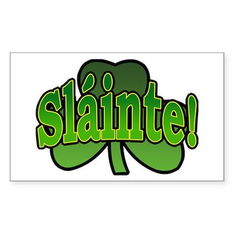 Slainte Shamrock Rectangle Sticker