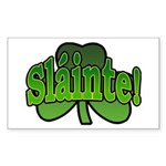 Slainte Shamrock Rectangle Sticker