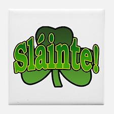 Slainte Shamrock Tile Coaster