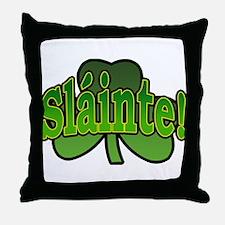 Slainte Shamrock Throw Pillow