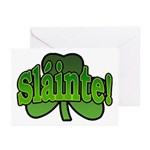 Slainte Shamrock Greeting Cards (Pk of 10)