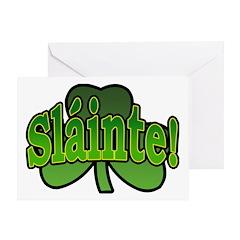 Slainte Shamrock Greeting Card