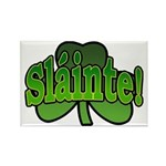 Slainte Shamrock Rectangle Magnet