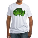 Slainte Shamrock Fitted T-Shirt