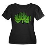 Slainte Shamrock Women's Plus Size Scoop Neck Dark