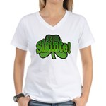 Slainte Shamrock Women's V-Neck T-Shirt