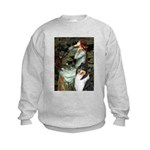 Ophelia / Collie (tri) Kids Sweatshirt