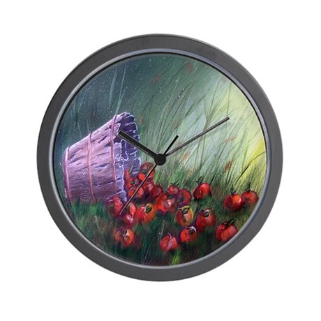 """Apples in the Grass"" Wall Clock"