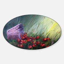 """""""Apples in the Grass"""" Oval Decal"""