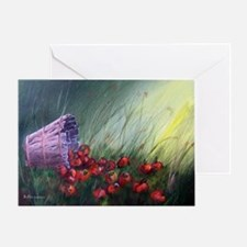 """""""Apples in the Grass"""" Greeting Card"""