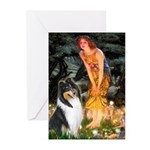 Midsummer's Eve / Collie (tri) Greeting Cards (Pk
