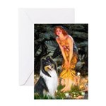 Midsummer's Eve / Collie (tri) Greeting Card