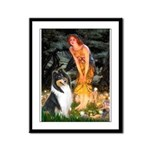 Midsummer's Eve / Collie (tri) Framed Panel Print
