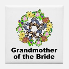 Pagan Pentagram Grandmother of the Bride Tile Coas