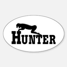 Cougar Hunter Oval Decal