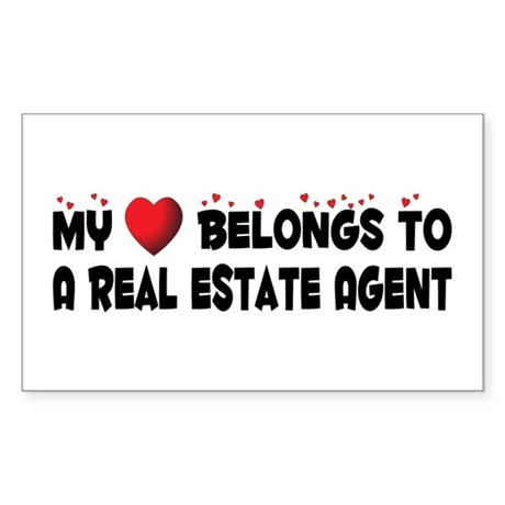 Belongs To A Real Estate Agent Sticker (Rectangula