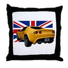 Yellow Elise UK Throw Pillow