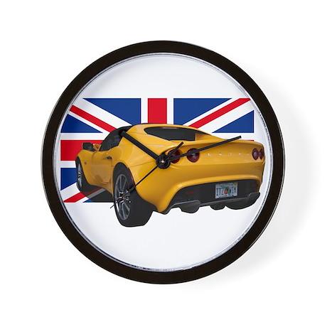 Yellow Elise UK Wall Clock