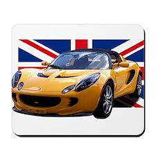 Yellow Elise UK Mousepad