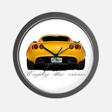 "Yellow Elise ""Enjoy the view."" Wall Clock"