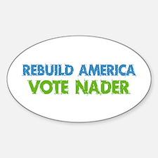 Vote Nader Oval Decal