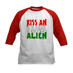 KISS ILLEGAL ALIEN Kids Baseball Jersey
