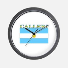Calleri Argentina Flag Wall Clock