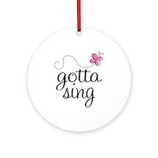 Singing Addict Ornament (Round)