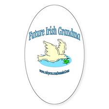 FUTURE IRISH GRANDMA-DOVE Oval Decal