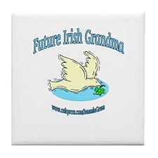 FUTURE IRISH GRANDMA-DOVE Tile Coaster