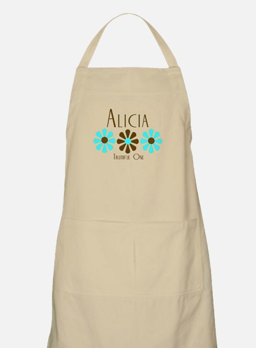 Alicia - Blue/Brown Flowers BBQ Apron