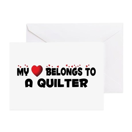 Belongs To A Quilter Greeting Cards (Pk of 10)