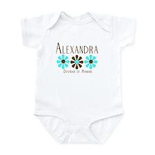 Alexandra - Blue/Brown Flower Infant Bodysuit