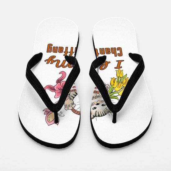 I Love My Chantilly Tiffany Designs Flip Flops