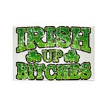 Distressed Drink Up Bitches Shamrock Rectangle Mag