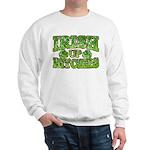 Distressed Drink Up Bitches Shamrock Sweatshirt