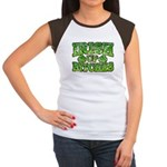 Distressed Drink Up Bitches Shamrock Women's Cap S