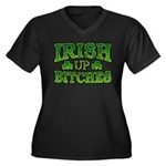 Distressed Drink Up Bitches Shamrock Women's Plus