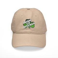 Irish Up Bitches Shamrock Baseball Cap