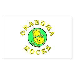 GRANDMA ROCKS Rectangle Decal