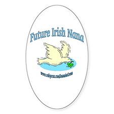 FUTURE IRISH NANA-DOVE Oval Decal