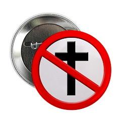 No More Christian Cross Button