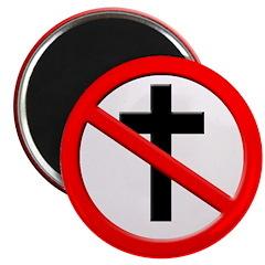 Godless Slash Crucifix Magnet