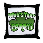 Shamrocks in Shamrock Shamrock Throw Pillow