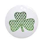 Shamrocks in Shamrock Shamrock Ornament (Round)